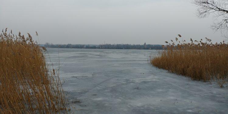 Jezioro Pławniowickie od strony Niewiesza