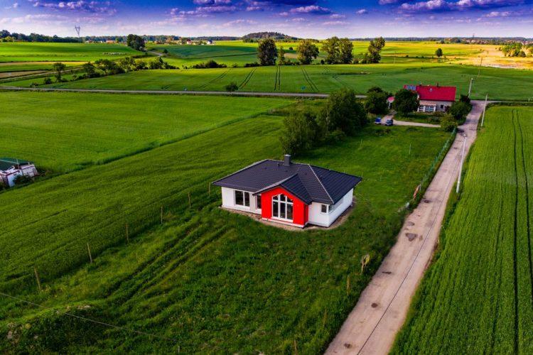 Wizualizacja trawnika na działce w Niewieszu (Adobe Photoshop Elements)